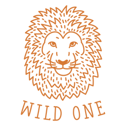 Wild one lion stroke