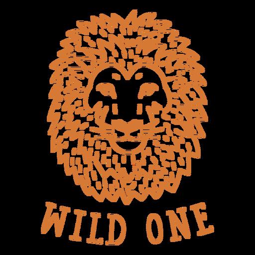 Uma braçada de leão selvagem