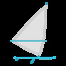 Windsurfing board flat element