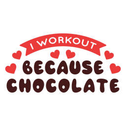 Entrenamiento porque frase de chocolate