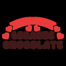 Treino porque frase de chocolate