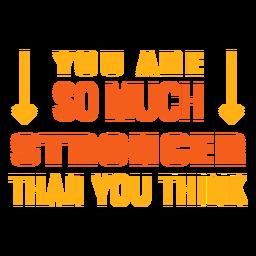 Frase motivacional de treino mais forte