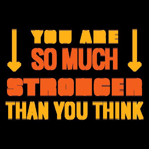 Entrenamiento motivacional frase más fuerte Transparent PNG