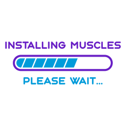 Workout phrase installing muscles