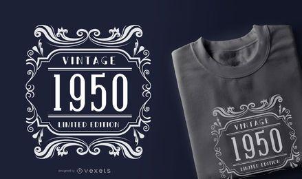 Diseño de camiseta de cotización de edición limitada