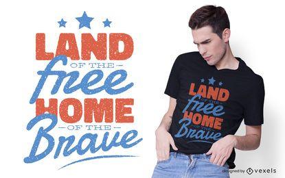 Inicio del diseño de camiseta The Brave