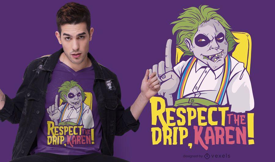 Respetar el diseño de la camiseta de goteo