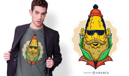 Hipster Corn T-shirt Design