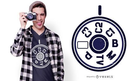 DSLR Camera Menu T-shirt Design