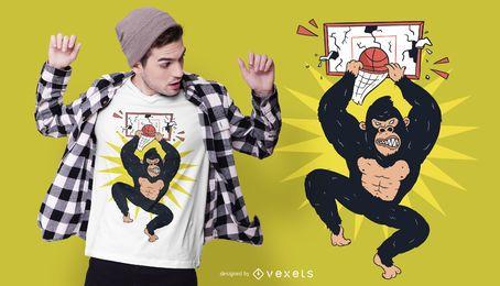 Diseño de camiseta Gorilla Dunk