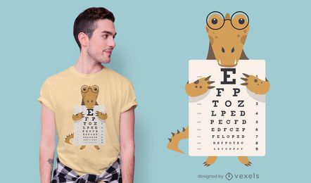 Design de t-shirt de carta de olho de jacaré