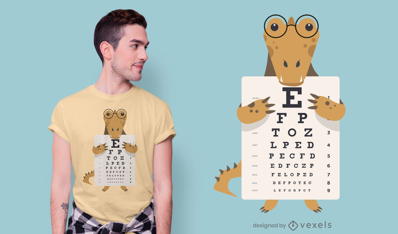 Design de camiseta com gráfico de olhos de jacaré