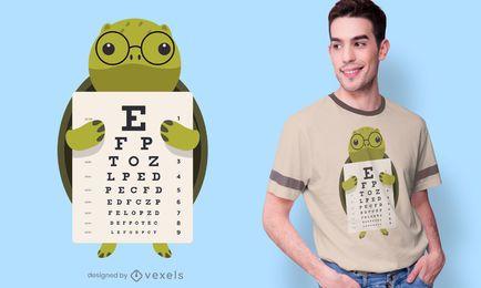 Diseño de camiseta Turtle Eye Chart