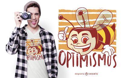 Design de t-shirt de abelha otimista