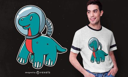 Space Dino Kinder T-Shirt Design