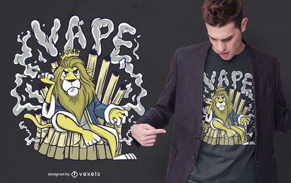 Design de t-shirt de leão Vape