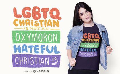 Design de camisetas coloridas da Orgulho LGBT