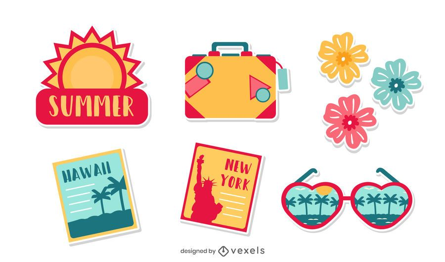 Summer Vacation Elements Pack