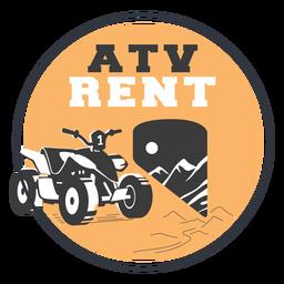 Distintivo de aluguel de quadriciclo