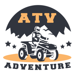 Distintivo de aventura de montanha ATV