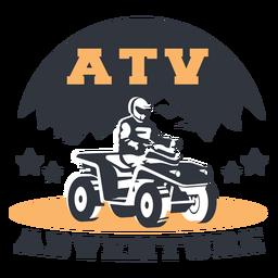 Distintivo de aventura na montanha Atv