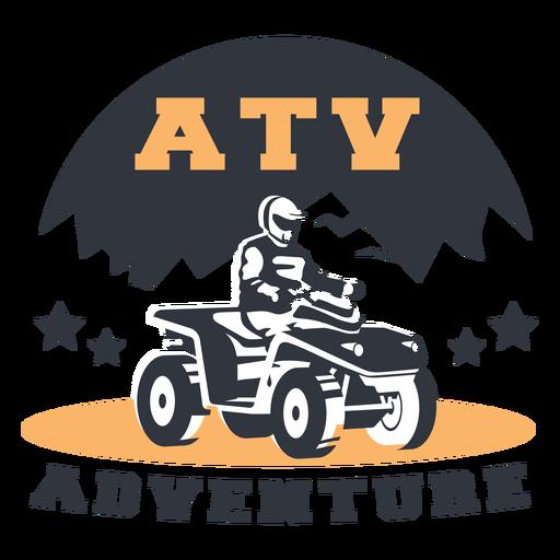 Insignia de aventura de montaña atv