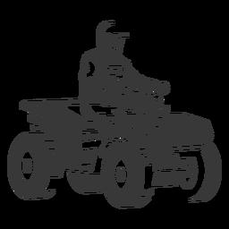 Atv rider black