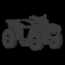 ATV transporte preto