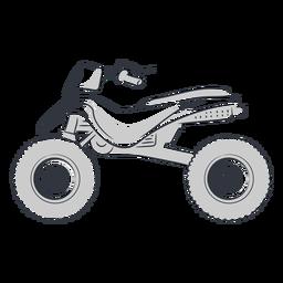 Mão de transporte ATV desenhada