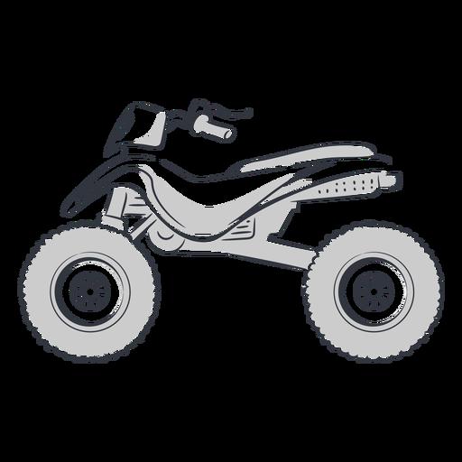 ATV transporte dibujado a mano Transparent PNG