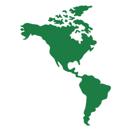 Silhueta de mapa da América