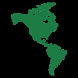 Silueta del mapa de América