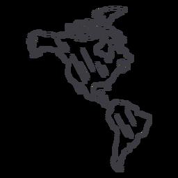 Trazo de mapa de América