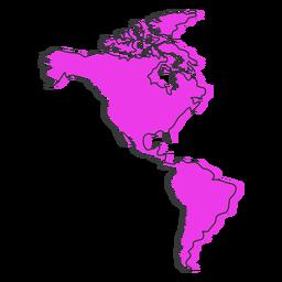 Mapa de América plana