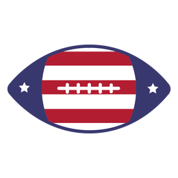 American football usa flag flat