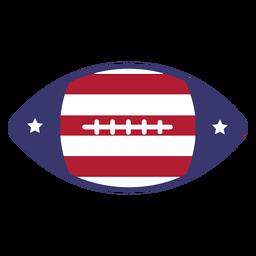 Bandeira dos EUA de futebol americano plana