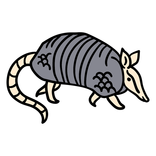 Dibujado a mano animal armadillo
