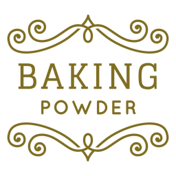 Baking powder swirls label