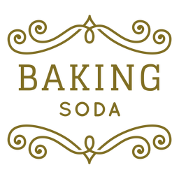 Baking soda swirls label