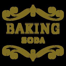 Etiqueta de redemoinhos de bicarbonato de sódio