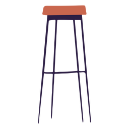 Bar stool illustration
