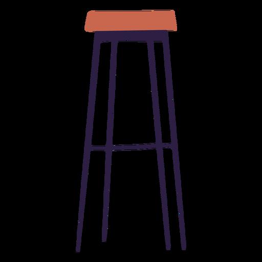 Ilustración de taburete de bar