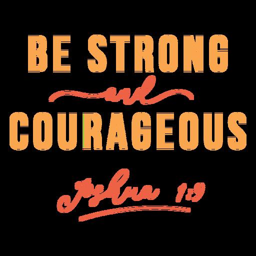 Seja letras fortes e corajosas