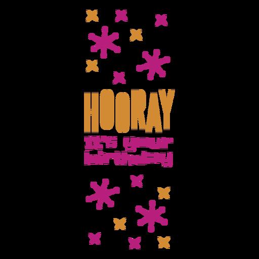 Birthday wine label