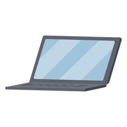 Black laptop illustration