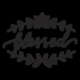 Letras florais abençoadas
