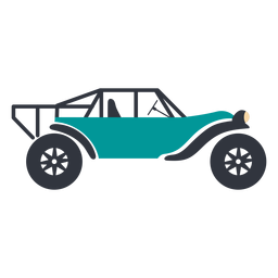 Blue rally buggy flat