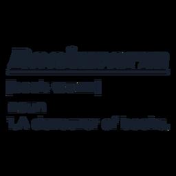 Letras de definición de ratón de biblioteca