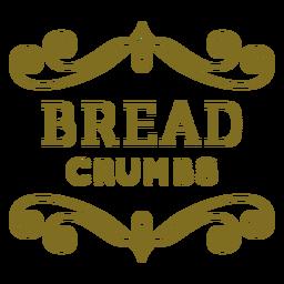 Etiqueta de redemoinhos de migalhas de pão