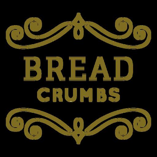 Etiqueta de remolinos de migas de pan